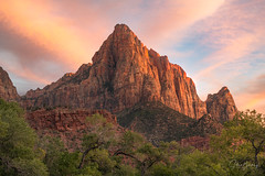Watchman (sberkley123) Tags: utah watchman zionnationalpark zion 70200mm sunset colors tamron d850 nikon usa