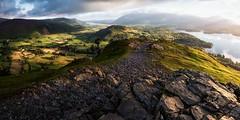 Catbells Revisited (John Ormerod) Tags: catbells keswick skiddaw derwentwater light sun sunshine cloud sky rain weather shadow landscape lake water drama hill fell mountain lakedistrict cumbria england britain unitedkingdom nikon view vista photograph photography photo morning