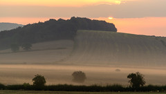 Cobnar Wood (l4ts) Tags: landscape derbyshire chesterfield cobnarwood goldenhour sunrise mist farmland