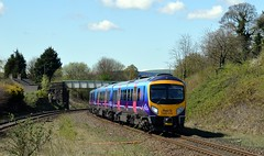 185139 rounds the curve at Chinley with the 1B74 Manchester Airport to Cleethorpes, 27th April 2015. (Dave Wragg) Tags: 185139 class185 desiro 1b74 tpe firsttranspennineexpress dmu railcar chinley hopevalleyline railway