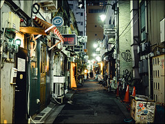 Golden Gai (David Panevin) Tags: 新宿ゴールデン街 goldengai 新宿区 shinjuku 東京 tokyo japan olympus omd em1 lumixg20mmf17iiasph street path alley izakaya bar evening night lights signs posters urbanfragments davidpanevin