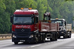 DK63 HZT (Martin's Online Photography) Tags: mercedes actros mp4 truck wagon lorry vehicle freight haulage commercial transport a63 everthorpe eastyorkshire nikon nikond7200
