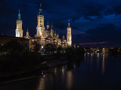 Basílica de Nuestra Señora del Pilar (angheloflores) Tags: virgendelpilar zaragoza iglesia church night lights longexposure city urban explore colors spain
