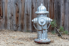 Waiting for Christmas (A Different Perspective) Tags: california southlaketahoe usa chain fence hydrant silver wall wood