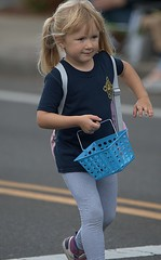Young Parade Walker (Scott 97006) Tags: kid parade blonde girl cute basket street