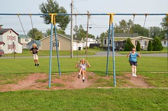 The Kids And Grandma On The Swings (Joe Shlabotnik) Tags: swings 2018 violet august2018 aroostook everett vanburen maine playground nancy afsdxvrzoomnikkor18105mmf3556ged