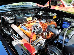 DSCN0837, A 426 Mopar wedge with cross manifold, Sept 2018 (a59rambler) Tags: cars technology