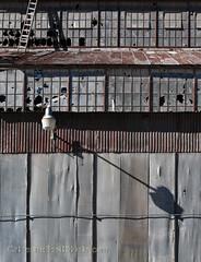 do not climb (Patinagal) Tags: industrial industry corrugatedsheetmetal rust relic abandoned patina windows facade