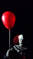They all float down here (custombase) Tags: it stephenking pennywise clown horror balloon timcurry 1990s neca ultimate figure toyphotography