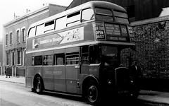 London transport RTL535 on route 108  Bromley by Bow 1950's. 1950's. (Ledlon89) Tags: bus buses london transport lt lte londontransport londonbus londonbuses vintagebuses leylandtitan leyland parkroyal