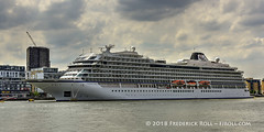 MV Viking Sea (Bergen) (© Freddie) Tags: london thames greenwich se10 millwall isleofdogs e14 vikingsea cruiseliner fjroll ©freddie newcapitalquay