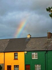 Beautiful rainbow (krpena.lutkica) Tags: rainbow spectrum house resident green yellow roof