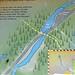 Isa Lake map (Craig Pass, Yellowstone, Wyoming, USA)