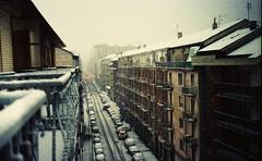 (Victoria Yarlikova) Tags: street torino turin winter analog 35mm film smallformat scan zenit122 vintage retro grain pellicola city analogue inverno snow epsonv700