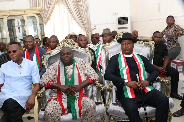 HSDIckson- Condolence visit by PDP leaders, Bayelsa Chapter. 23rd August 2018