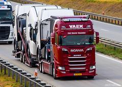Scania S NG Highline / VAEX (NL) (Maciej Korsan) Tags: camion lorry truck tir lkw ciezarowka vaex scania autotransporter s730 v8 highline