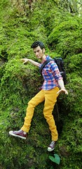 [12] in yon shady glen (Nata Luna) Tags: 10thdoctor simmmaster outdoors moss trees forest climbing