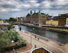 Riverside in Malmo, Sweden (` Toshio ') Tags: toshio malmo sweden swedish europe european europeanunion scandanavia worldmaritimeuniversity city downtown river iphone