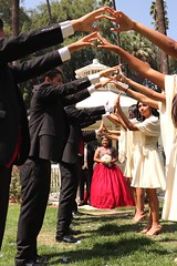 Quinceanera (Prayitno / Thank you for (12 millions +) view) Tags: quice quinceara 15 year old birth day 15th yo bday outdoor fun dancing party court young cute pretty beauty beautiful girl red dress mexican mexico tradition culture time fairmount park riverside ca california