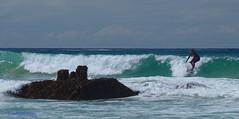 3KB08235a_C (Kernowfile) Tags: surfing surfer waves sea breakers boiler blue sky porthmeorbeach stives the island clouds spray foam
