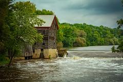 Jaeger Rye Mill (1854) / Danville Dam (Mike Schaffner) Tags: crawfishriver dam danvilledam jaegerryemill mill river water columbus wisconsin unitedstates us