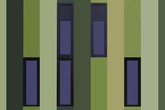 Greenish abstract School (JanNiezen) Tags: colors lines green yellow grey abstract blue windows school