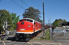 Trailing view East Richmond (highplains68) Tags: aus australia nsw newsouthwales richmondline 42103 4204 lachlanvalleyrailway shuttles tour eastrichmond