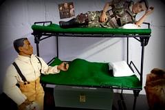 Dreams - Life in the Barracks (MayorPaprika) Tags: panasoniclumixdmcfz1000 16 custom diorama toy story paprihaven action figure set gijoe classic tuskegeeairmen fighterpilot