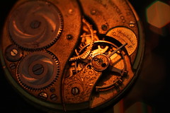 Before Quartz - Happy Macro Mondays! (ironicdream) Tags: macromonday hmm cogwheel vintageprimes watch rust sony a6000 metail old minolta 50mm
