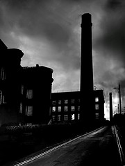 Dark Satanic Mills (kevin.fahy1) Tags: buildings geometric urban lines contrast architecture monochrome blackwhite halifax shadows sky moody clouds dark mills