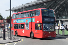 TT DN33790 @ Stratford bus station (ianjpoole) Tags: tower transit alexander dennis enviro 400 sn13cgz dn33790 working route 25 holles street oxford circus hainault ilford
