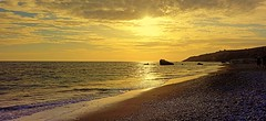sunset in gold (majka44) Tags: gold sunrise cyprus nature landscape travel light beach holiday atmosphere 2016 nice sun