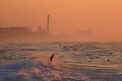 Surfing at Sunset - Tel-Aviv beach - Follow me on Instagram:  @lior_leibler22 (Lior. L) Tags: surfingatsunsettelavivbeach surfing sunset telaviv beach sea seascapes israel telavivbeach