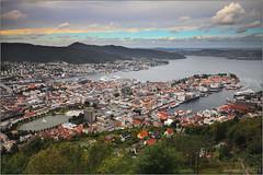 Bergen panorama (seeneasy) Tags: norway norvegia bergen streets strade case palazzi buildings panorama cityscape clouds nuvole seeneasy canon canon5dmarkii canonef1635f4lisusm estate summer