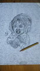 El pequeño  que quería ser DJ... .  La alegría de los niños ya es una #victoria en si misma y una alegría para los demás... . Dibujos rápidos en papeles usados... Bocetos... .  #portrait #artwork  #artlovers #artdaily #artist #music #artoftheday #artofins (egc2607) Tags: sketch victoria bambino dj artwork lapiz music tattoo artdaily niño artphoto artlovers artoftheday photography pencildrawing artist painting instaart drawing children zaragoza фотография fotografia kidsfashion portrait crayon artofinstagram draw