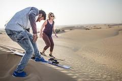 Dunes - Sand skiing #2 (Piotr Kowalski) Tags: dubai uae unitedarabemirates emirates dunes sand piasek pustynia dubaj emiraty wakacje summer activity sport skiing sandskiing