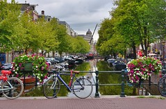Amsterdam Canals (jpellgen (@1179_jp)) Tags: canal canals water ams amsterdam holland netherlands travel nikon 2018 august sigma 1770mm d7200 europe european architecture bike bikes bicycles bicycle flower flowers amsterdamcanals