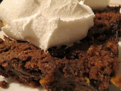 Dessert. (dccradio) Tags: lumberton nc northcarolina robesoncounty indoor indoors september cake whippedcream whippedtopping coolwhip chocolate zucchinicake dessert sweet treat food eat snack canon powershot elph 520hs photooftheday photo365 project365