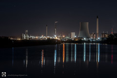 Veolia Ellesmere Port (alundisleyimages@gmail.com) Tags: industry industriallandscape night longexposure manchestershipcanal ellesmereport cheshire reflections weather ports harbours maritime lights chimneys factory plant nature northwestengland photography nikon manfrotto shipping