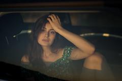 The Wanderess I (fehlfarben_bine) Tags: nikond800 sigmaart500mmf14 portrait woman car window berlin goldenhour eyecontact expression
