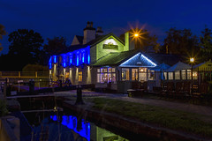 The Star (Kev Gregory (General)) Tags: the star public house stone alongside trent mersey canal staffordshire kev gregory canon 7d long exposure night photography colourful water reflections lock gates pub beautiful blue hour sky lights
