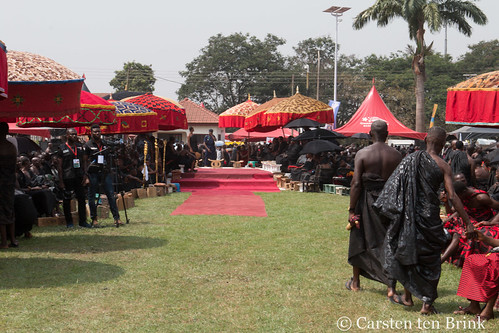 At the Queen Mother's funeral - towards the seat of honour