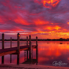Hobe Sound Sunrise (Thüncher Photography) Tags: fujifilm fuji gfx50s fujigfx50s fujinongf3264mmf4rlmwr mediumformat scenic landscape waterscape nature outdoors sky clouds colors reflections sunrise beach dock pier tropical island hobesound jupiterisland florida southeastflorida treasurecoast intracoastal