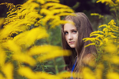 autumn is coming.... (Zborowska) Tags: autumn flowers yellow girl long hair portrait