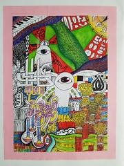 Unit final piece (imran786art) Tags: art artwork original year 9 10 11 alevel english arabic bengali streetart graffiti calligraphy calligraffiti buildings architecture alice wonderland colour paint watercolour acrylic painting language hat tea party bangladesh identity
