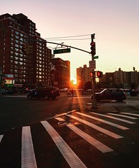 (rafalweb (moved)) Tags: iphone apple buildings flare sunset availablelight evening streetphoto streetphotography newyorkcity queens nyc
