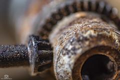 Chucky - MM (CamraMan.) Tags: cogwheel macromondays macromonday chuck drill rusty canon6d tamron90mm ©davidliddle ©camraman