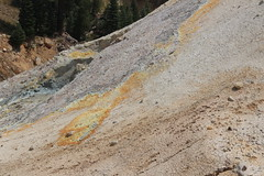 Sulphur stains on the earth (rozoneill) Tags: lassen volcanic national park peak sulphur works california