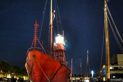 City harbour Den Helder (3) (pe0s, Steven) Tags: denhelder willemsoord night harbour haven port lightship ship vuurtoren lighthouse texel lichtschip schip stadshaven hdr