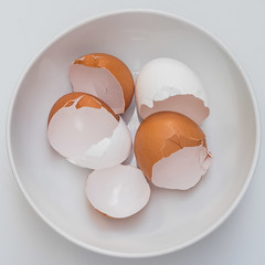 In the Round (lclower19) Tags: takeaim circles eggs broken cracked white brown topdown bowl